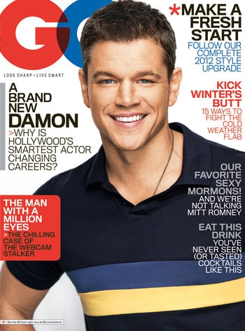 GQ Cover, Matt Damon
