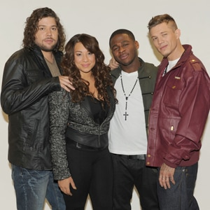 The X Factor, Top 4, Josh Krajcik, Melanie Amaro, Marcus Canty, Chris Rene