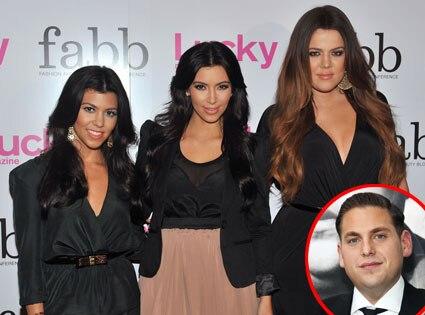 Kourtney Kardashian, Kim Kardashian, Khloe Kardashian, Jonah Hill