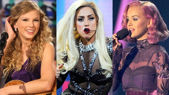 Taylor Swift, Lady Gaga, Katy Perry