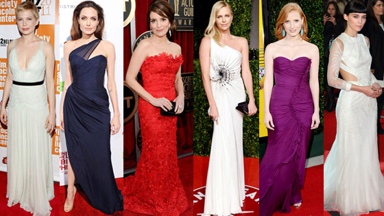 Angelina Jolie, Charlize Theron, Tina Fey, Michelle Williams, Jessica Chastain, Rooney Mara