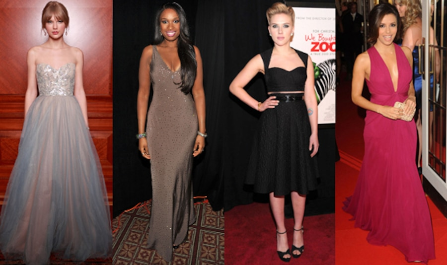 Taylor Swift, Jennifer Hudson, Eva Longoria, Scarlett Johansson