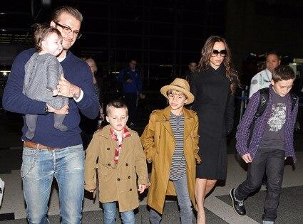 Victoria Beckham, David Beckham, Harper, Cruz, Brooklyn, Romeo