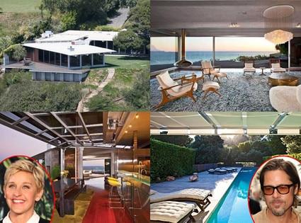 Brad Pitt, Ellen Degeneres Malibu Home