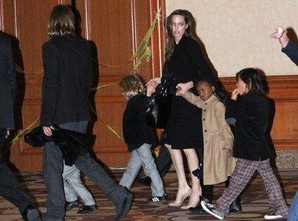 Brad Pitt, Angelina Jolie, Pax, Zahara, Shiloh