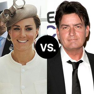 Charlie Sheen, Kate Middleton