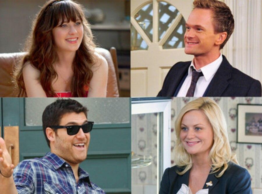 Zooey Deschanel, New Girl, Neil Patrick Harris, How I Met, Adam Pally, Happy Endings, Amy Poehler, Parks and Rec