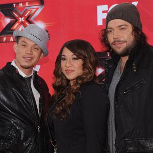 Chris Rene, Melanie Amaro, Josh Krajcik, THE X FACTOR