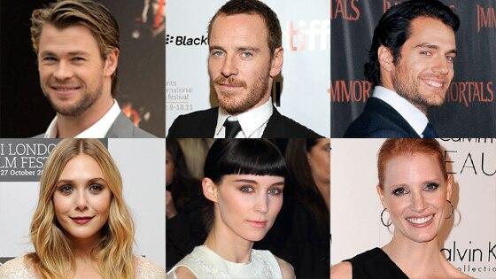 Chris Hemsworth, Elizabeth Olsen, Henry Cavill, Jessica Chastain, Michael Fassbender, Rooney Mara