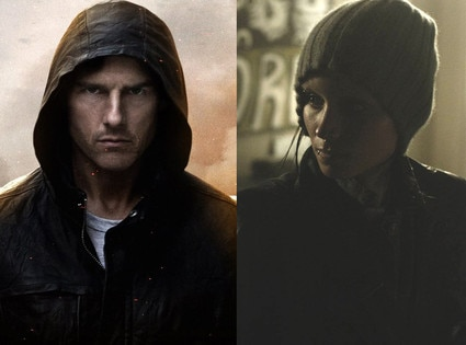 Tom Cruise, Mission Impossible, Rooney Mara, The Girl with the Dragon Tattoo