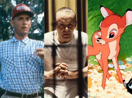 Forrest Gump, Bambi, Silence of the Lambs