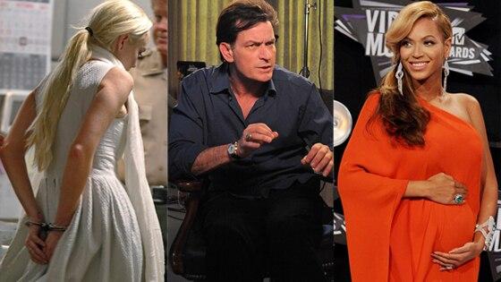 Lindsay Lohan, Charlie Sheen, Beyonce