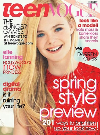 Elle Fanning, Teen Vogue Cover