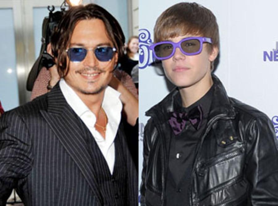Justin Bieber, Johnny Depp