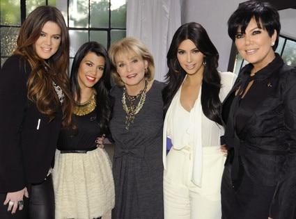 Khloe Kardashian Odom, Kourtney Kardashian, Barbara Walters, Kim Kardashian, Kris Jenner