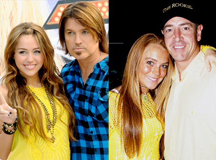 Miley Cyrus, Billy Ray Cyrus, Lindsay Lohan, Michael Lohan