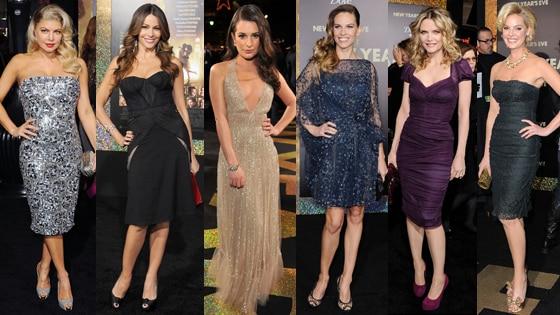 Sofia Vergara, Katherine Heigl, Lea Michele, Hilary Swank, Fergie, Michelle Pfeiffer