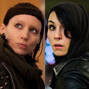 The Girl with the Dragon Tattoo, Noomi Rapace, Rooney Mara