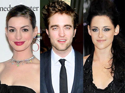 Anne Hathaway, Kristen Stewart, Robert Pattinson