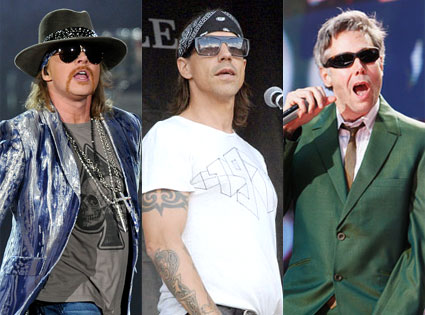 Beastie Boys, Red Hot Chili Peppers, Guns N' Roses