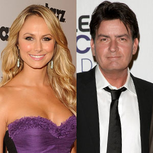 Stacy Keibler, Charlie Sheen