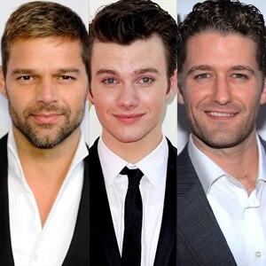 Ricky Martin, Chris Colfer, Matthew Morrison