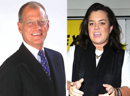 Rosie O'Donnel, David Letterman