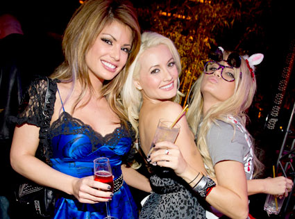 Laura Croft, Holly Madison. Angel Porrino