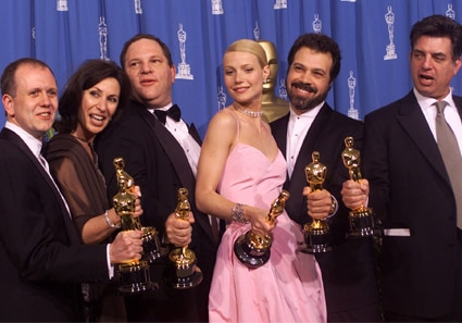 David Parfitt, Donna Gigliotti, Harvey Weinstein, Gwyneth Paltrow, Edward Zwick and Marc Norman