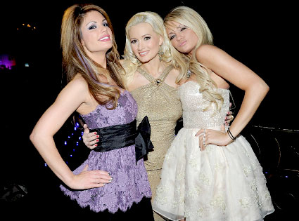 Angel Porrino, Holly Madison, Laura Croft