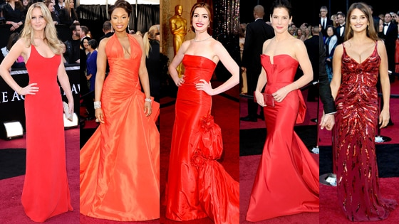 Jennifer Lawrence, Jennifer Hudson, Anne Hathaway, Sandra Bullock, Penelope Cruz