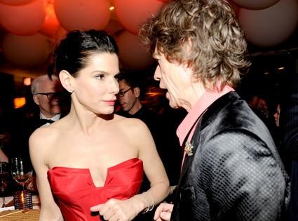 Sandra Bullock, Mick Jagger