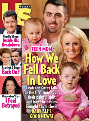 Us Weekly Cover, Corey Simms, Leah Messer, Teen Mom 2