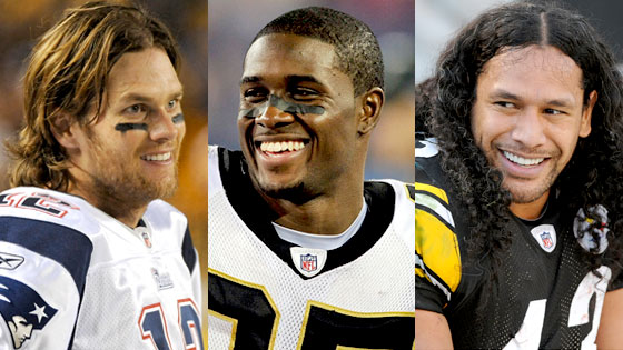 Tom Brady, Reggie Bush, Troy Polamalu