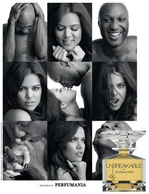 Khloe Kardashian Odom, Lamar Odom, Perfume Ad