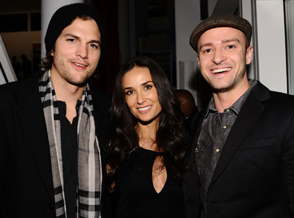 Justin Timberlake, Ashton Kutcher, Demi Moore
