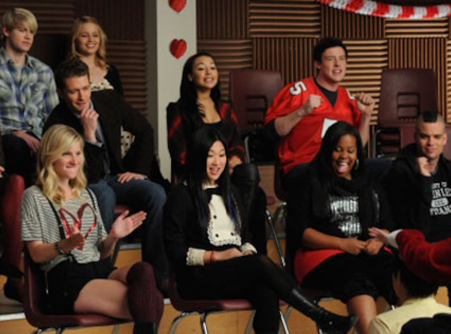Chord Overstreet, Matthew Morrison, Dianna Agron, Naya Rivera and Cory Monteith, Glee