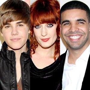 Justin Bieber, Florence Welch, Drake