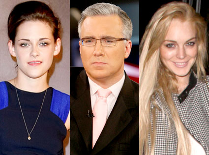 Kristen Stewart, Keith Olbermann, Lindsay Lohan