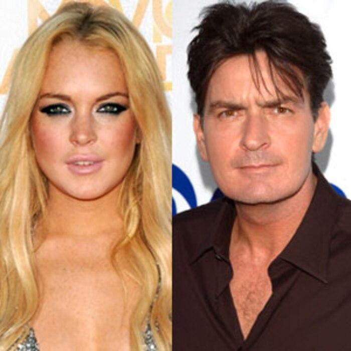 Lindsay Lohan, Charlie Sheen