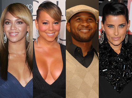 Nelly Furtado, Mariah Carey, Beyonce, Usher