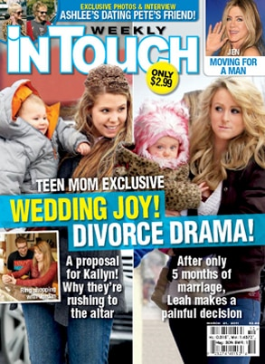 Kailyn, Leah, Teen Mom, InTouch Cover