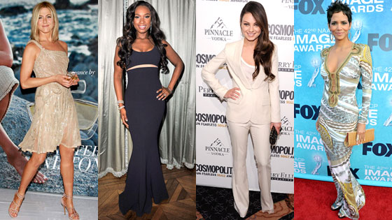 Jennifer Aniston, Jennifer Hudson, Mila Kunis, Halle Berry
