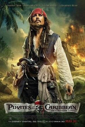 On Stranger Tides, Pirates Caribbean, Poster