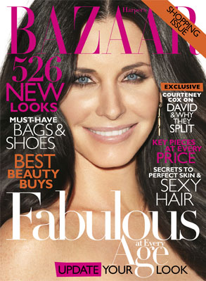 Courteney Cox, Harper's Bazaar Cover