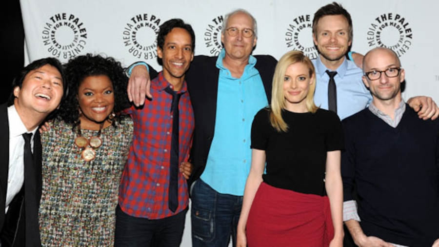 Community cast: Ken Jeong, Yvette Nicole Brown, Danny Pudi, Chevy Chase, Gillian Jacobs, Joel McHale and Jim Rash