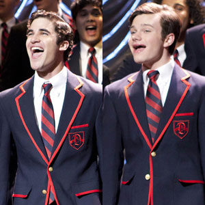 Chris Colfer, Darren Criss, Glee