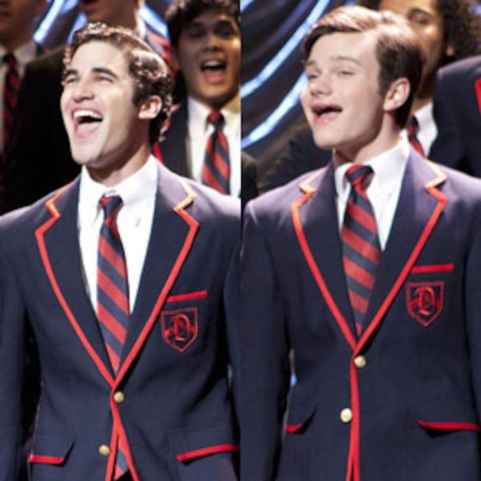 Chris Colfer, Darren Criss, Glee