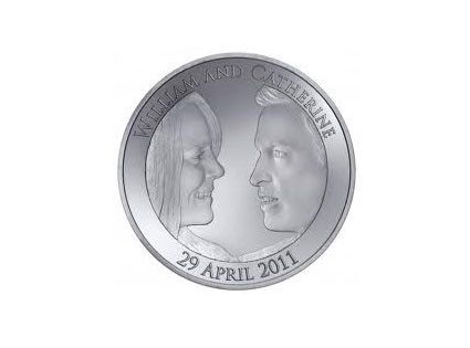 Kate Middleton, Prince William, Royal Wedding, The Official Coin