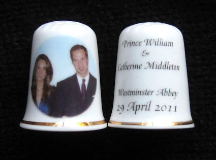 Kate Middleton, Prince William, Royal Wedding, Thimble